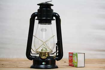 Dietz Junior Lantern Black with Gold