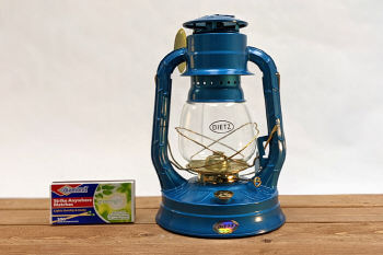 Dietz Air Pilot Lantern Blue with Gold