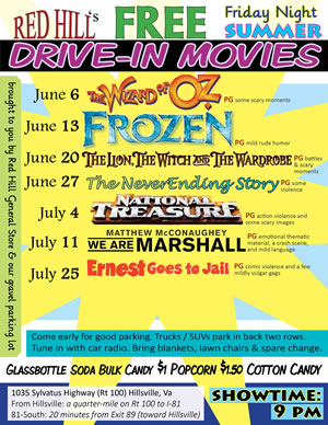 Free Drive In Movie Summer Friday Nights